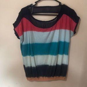 Short sleeve multi color shirt